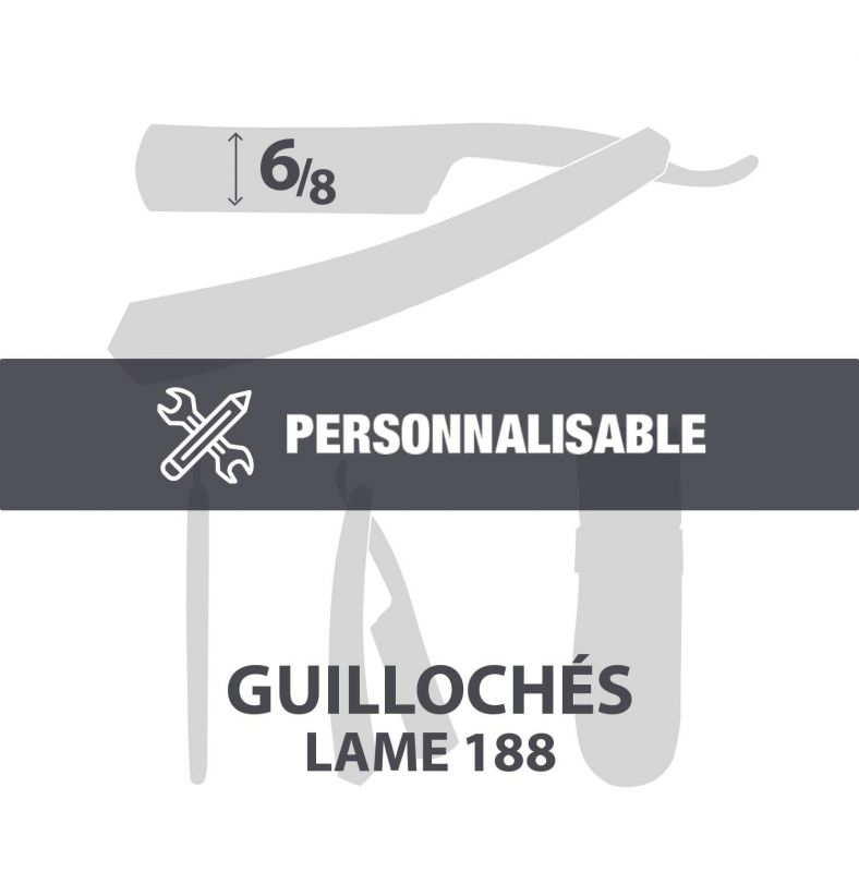 "Guillochés 6/8"" - Lame 188"
