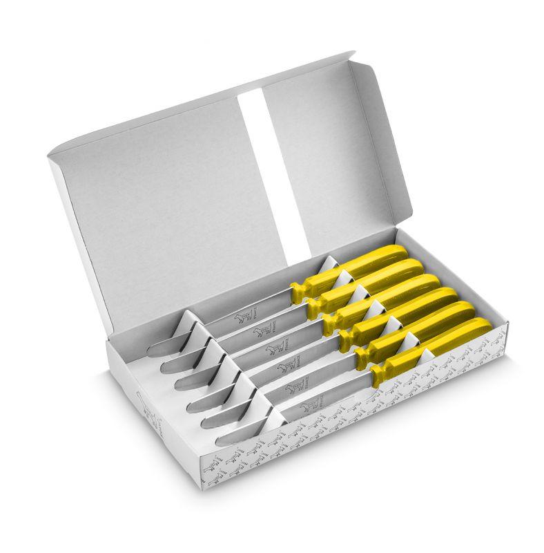 CHIEN® manche jaune boite blanche imprimée